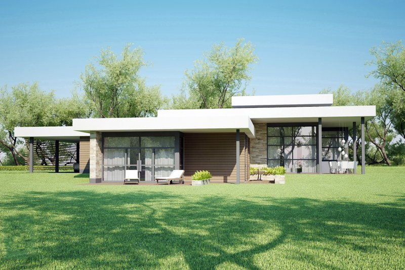 Dream House Plan - Modern style home designed by Arch L.A.B., elevation