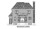 Country Style House Plan - 3 Beds 2.5 Baths 1383 Sq/Ft Plan #138-314 Exterior - Rear Elevation