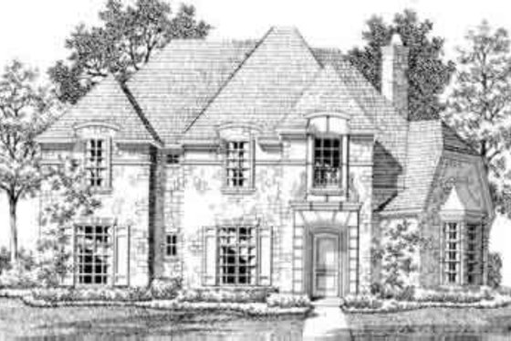 European Exterior - Front Elevation Plan #141-111