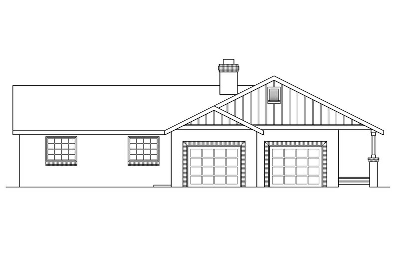 Ranch Exterior - Other Elevation Plan #124-188 - Houseplans.com