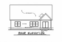 House Plan Design - Ranch Exterior - Rear Elevation Plan #20-2312