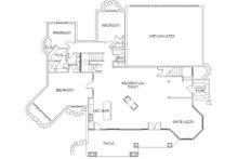 European Floor Plan - Lower Floor Plan Plan #5-406
