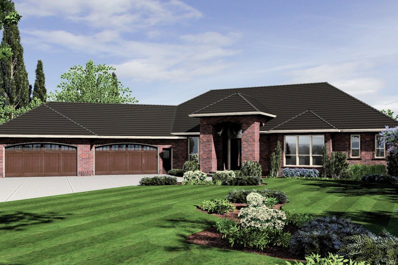 Exterior - Front Elevation Plan #48-604