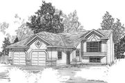 Mediterranean Style House Plan - 2 Beds 2 Baths 1292 Sq/Ft Plan #409-108 Exterior - Front Elevation