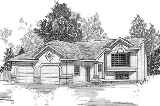 Mediterranean Exterior - Front Elevation Plan #409-108