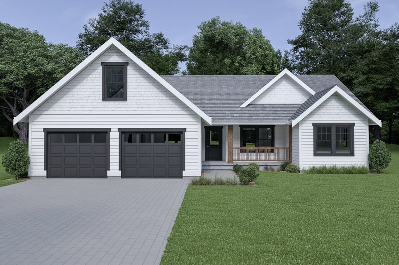Architectural House Design - Craftsman Exterior - Front Elevation Plan #1070-63