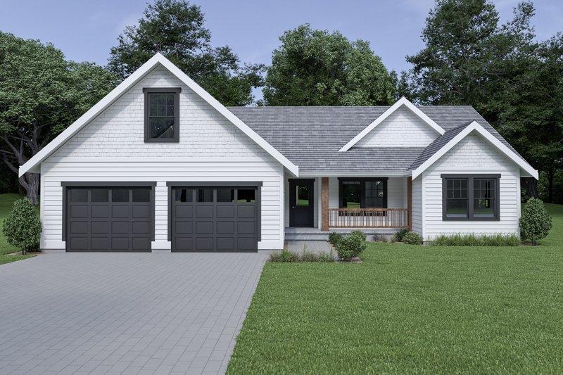 Architectural House Design - Craftsman Exterior - Front Elevation Plan #1070-63