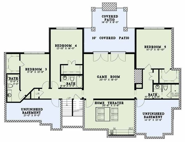 Country Floor Plan - Lower Floor Plan Plan #17-2596