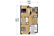 Contemporary Style House Plan - 3 Beds 1 Baths 1570 Sq/Ft Plan #25-4424 Floor Plan - Upper Floor Plan