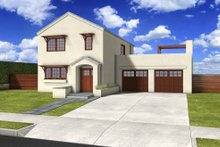House Blueprint - Traditional Exterior - Front Elevation Plan #497-38
