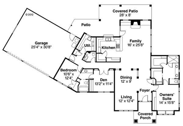 Floor Plan - Main Floor Plan Plan #124-370