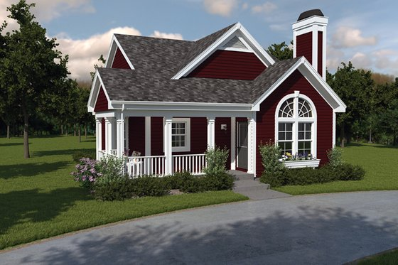 Cottage Exterior - Front Elevation Plan #57-194
