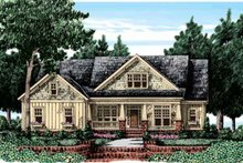 Craftsman Exterior - Front Elevation Plan #927-25
