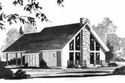 House Plan - 2 Beds 1 Baths 963 Sq/Ft Plan #36-353 Exterior - Front Elevation