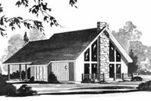 Dream House Plan - Exterior - Front Elevation Plan #36-353