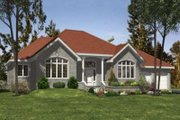 Traditional Style House Plan - 3 Beds 1.5 Baths 1976 Sq/Ft Plan #138-128 Exterior - Front Elevation