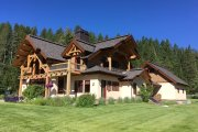 Log Style House Plan - 3 Beds 3 Baths 3440 Sq/Ft Plan #451-27 Exterior - Other Elevation