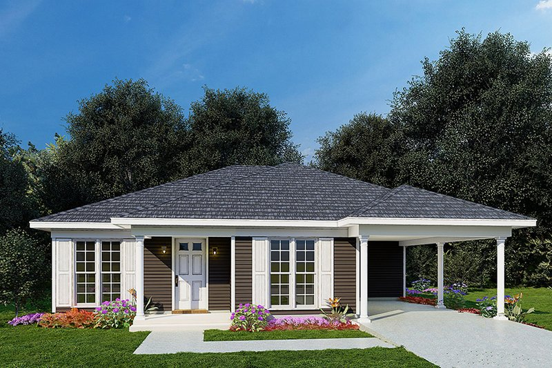 Dream House Plan - Traditional Exterior - Front Elevation Plan #923-217