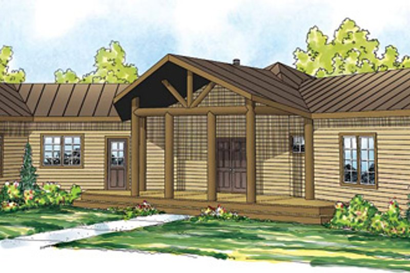 Craftsman Exterior - Front Elevation Plan #124-853 - Houseplans.com