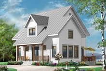 Home Plan - Country Exterior - Front Elevation Plan #23-2471