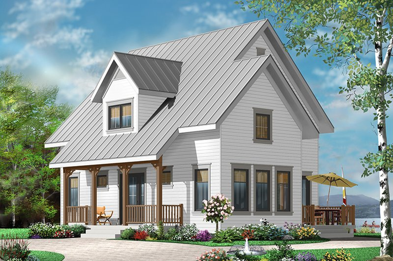 Country Exterior - Front Elevation Plan #23-2471