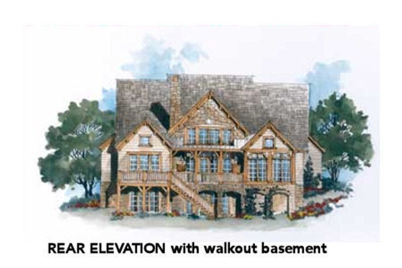 Farmhouse Exterior - Rear Elevation Plan #429-35 - Houseplans.com