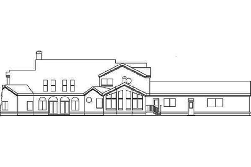 Modern Exterior - Rear Elevation Plan #60-654 - Houseplans.com