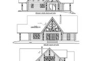Log Style House Plan - 3 Beds 3 Baths 2155 Sq/Ft Plan #117-120 Exterior - Rear Elevation