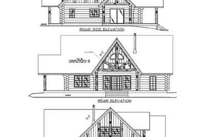 Log Exterior - Rear Elevation Plan #117-120 - Houseplans.com