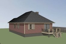 Home Plan - Traditional Exterior - Rear Elevation Plan #79-160