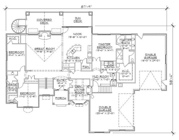European Floor Plan - Main Floor Plan #5-394