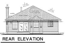 Home Plan Design - Traditional Exterior - Rear Elevation Plan #18-155