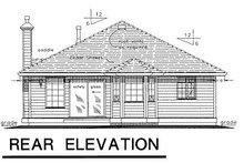 House Blueprint - Traditional Exterior - Rear Elevation Plan #18-155