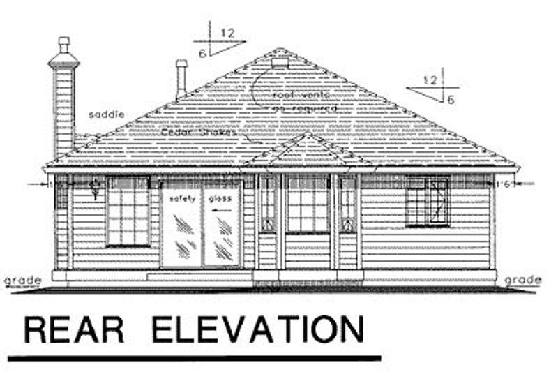Traditional Exterior - Rear Elevation Plan #18-155 - Houseplans.com