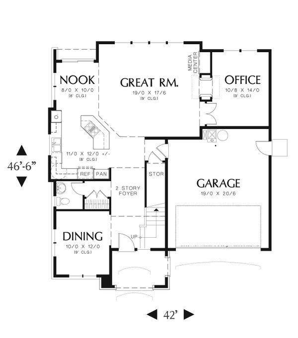 Traditional Floor Plan - Main Floor Plan Plan #48-554