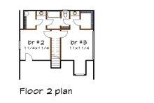 Cottage Floor Plan - Upper Floor Plan Plan #79-158