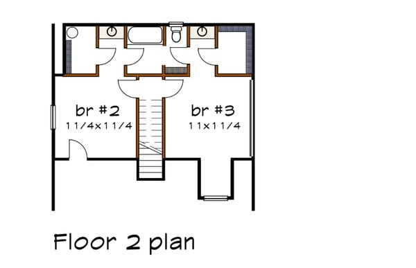 House Plan Design - Cottage Floor Plan - Upper Floor Plan #79-158