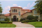 Mediterranean Style House Plan - 6 Beds 4.5 Baths 5002 Sq/Ft Plan #135-211 Exterior - Front Elevation