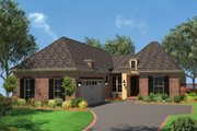 European Style House Plan - 3 Beds 2 Baths 1792 Sq/Ft Plan #430-92 Exterior - Front Elevation