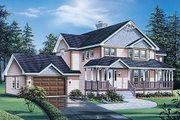 Traditional Style House Plan - 3 Beds 2.5 Baths 2253 Sq/Ft Plan #57-439 Exterior - Front Elevation