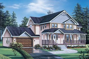 Traditional Exterior - Front Elevation Plan #57-439