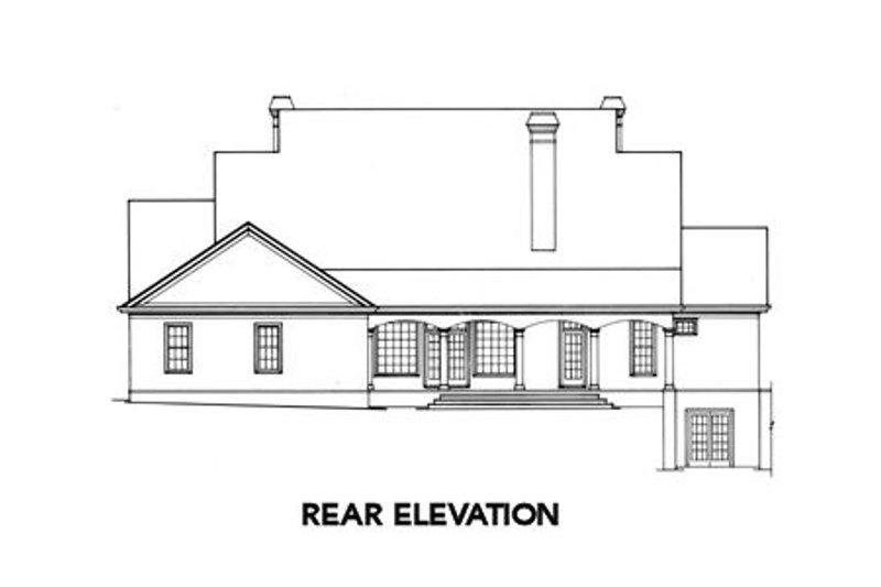 Classical Exterior - Rear Elevation Plan #429-16 - Houseplans.com