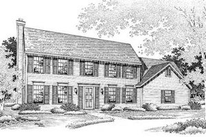 Colonial Exterior - Front Elevation Plan #50-187