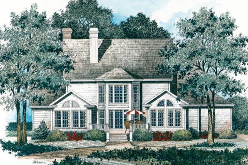 Colonial Exterior - Rear Elevation Plan #429-21 - Houseplans.com