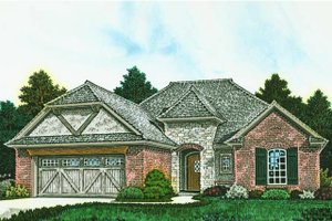 Architectural House Design - European Exterior - Front Elevation Plan #310-1285