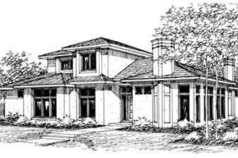 Exterior - Front Elevation Plan #124-211
