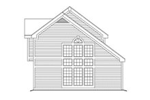 Home Plan - Traditional Exterior - Rear Elevation Plan #57-291
