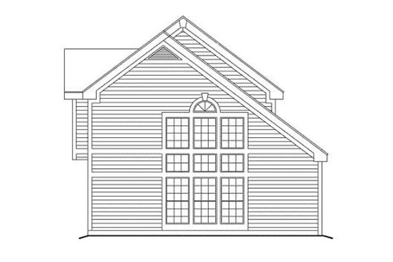 Traditional Exterior - Rear Elevation Plan #57-291 - Houseplans.com