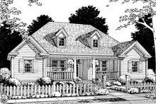 Home Plan - Traditional Exterior - Front Elevation Plan #20-327