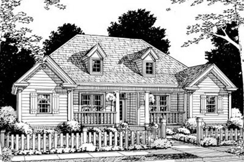 Architectural House Design - Traditional Exterior - Front Elevation Plan #20-327